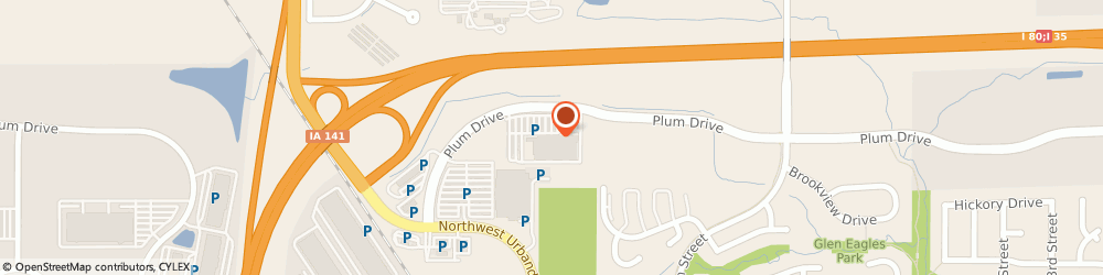 Route/map/directions to Maytag Retailer, 50322 Urbandale, 10850 Plum Drive