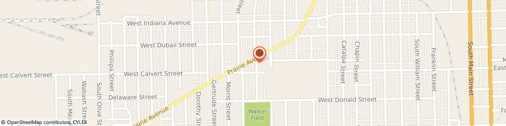 Route/map/directions to Aetna Glass Co, 46613 South Bend, 1802 Prairie Ave