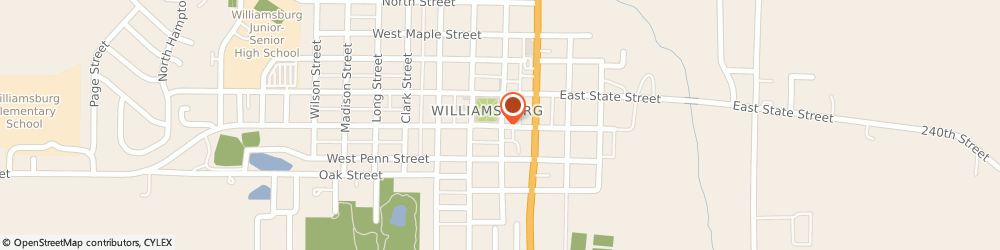 Route/map/directions to Progressive Insurance, 52361 Williamsburg, 203 West Welsh Street