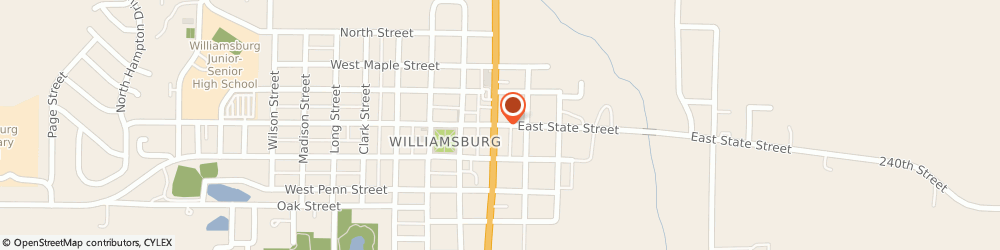 Route/map/directions to Progressive Insurance, 52361 Williamsburg, 116 W State Street
