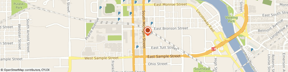 Route/map/directions to Finish Stop, 46601 South Bend, 736 SOUTH MICHIGAN STREET