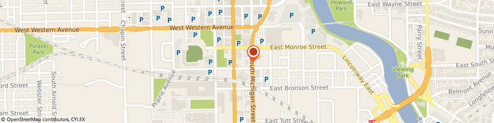 Route/map/directions to Firestone Retailer, 46601 South Bend, 525 South Michigan Street