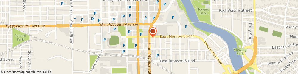 Route/map/directions to Firestone Retailer, 46601-2414 South Bend, 502 S Michigan St