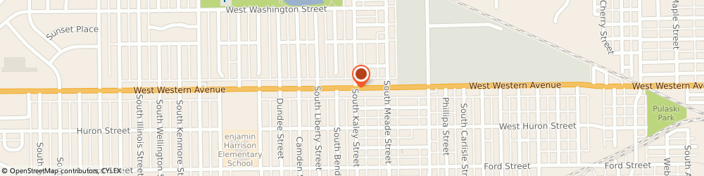 Route/map/directions to Clean Air Environmental Services Incorporated, 46619 South Bend, 2712 WEST WESTERN AVENUE