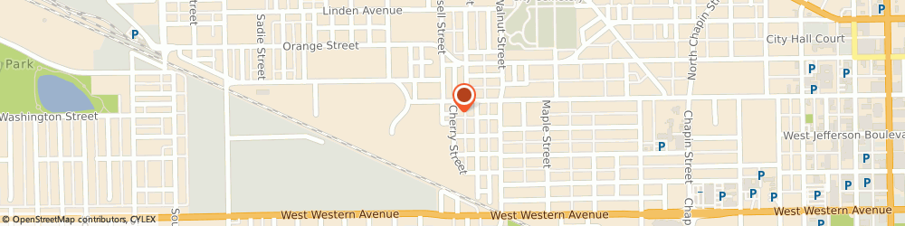 Route/map/directions to C E Stafford Construction Inc, 46601 South Bend, 111 Cherry St