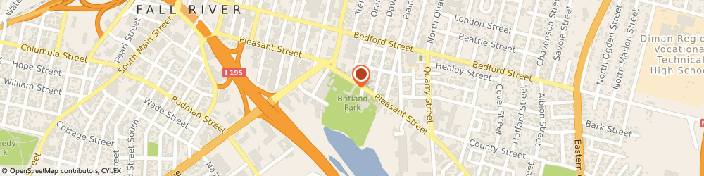 Route/map/directions to Dunkin', 02721 Fall River, 657 Pleasant St