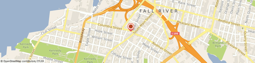 Route/map/directions to Accounting Portfolios Inc, 02721 Fall River, 401 COLUMBIA ST