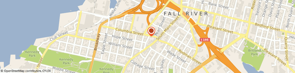 Route/map/directions to Joomla LMS King Products, 02721 Fall River, 385 Columbia St