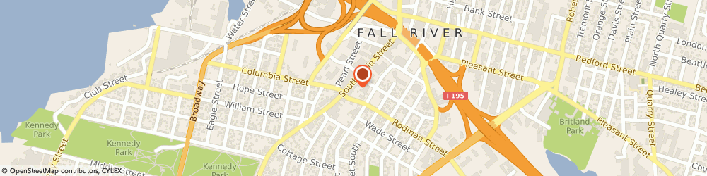 Route/map/directions to Subway, 02721 Fall River, 290 S Main
