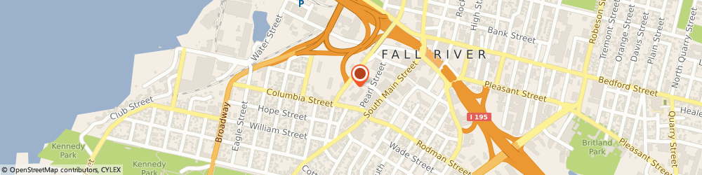 Route/map/directions to Dunkin', 02721 Fall River, 234 Milliken Blvd