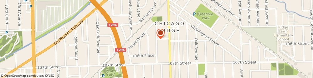 Route/map/directions to Rich Blackwell Consulting LLC, 60415 Chicago Ridge, 10629 Forest Ln