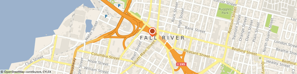 Route/map/directions to Fall River Herald News, 02721 Fall River, 207 Pocasset St