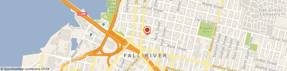 Route/map/directions to Infinex Financial Group, 02720 Fall River, 79 NORTH MAIN STREET