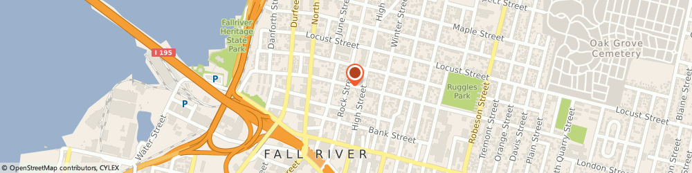 Route/map/directions to Squillante-Bonanno Denise Attorney, 02720 Fall River, 190 ROCK STREET