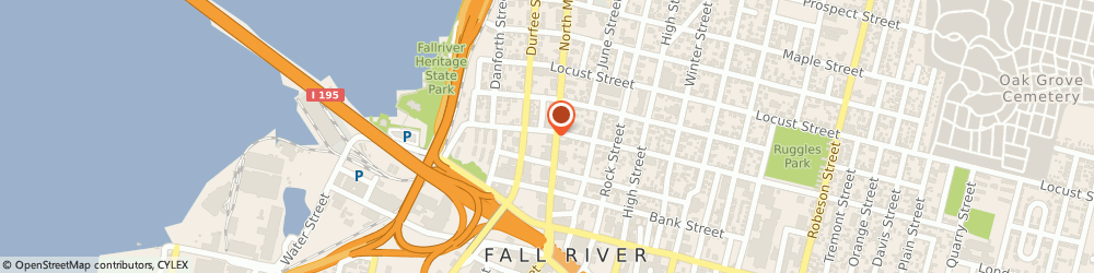 Route/map/directions to The Arc Of Greater Fall River, 02720 Fall River, 182 NORTH MAIN STREET