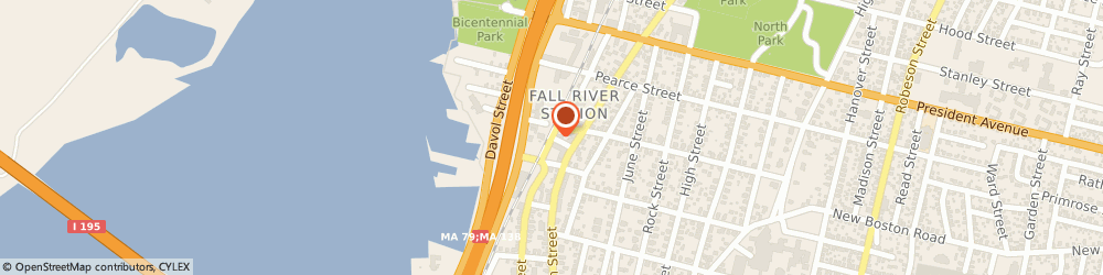 Route/map/directions to Doriss Design Workshoppe, 02720 Fall River, 626 Durfee Street