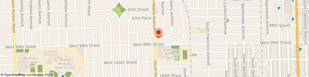 Route/map/directions to Baskin Robbins, 60805 Evergreen Park, 9856 S Kedzie Ave