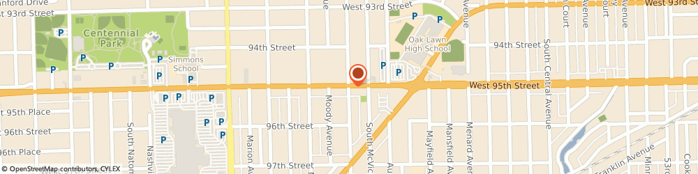 Route/map/directions to Hawkinson Ford, 60453 Oak Lawn, 6100 WEST 95TH STREET