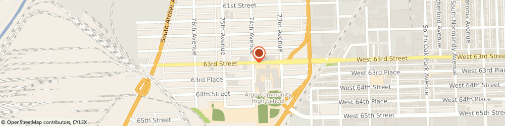 Route/map/directions to Chicago Summit Spanish Iglesia del Nazareno, 60501 Summit, 7401 W. 63Rd St.