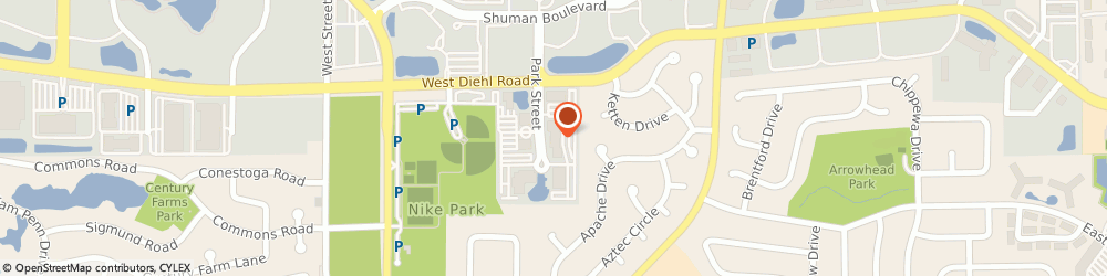 Route/map/directions to Mathys & Schneid Injury Law, 60563 Naperville, 1730 Park Street
