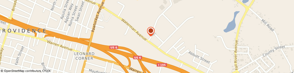 Route/map/directions to A Alarm Concepts, 02914 East Providence, 850 Waterman Ave