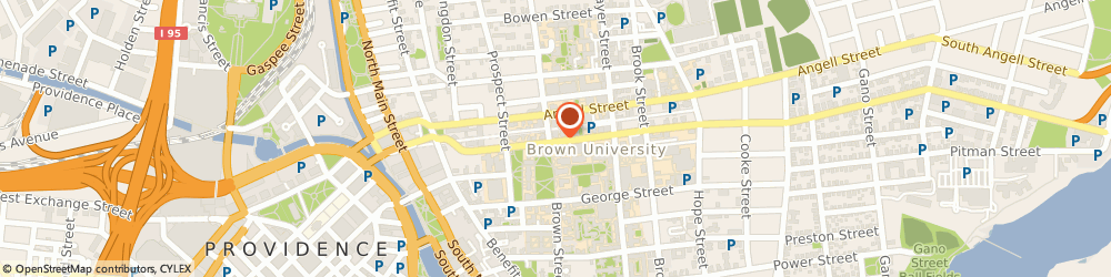 Route/map/directions to Brown University Mail Services, 02912 Providence, 69 Brown St