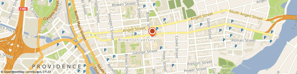 Route/map/directions to Brown University - Bell Gallery, 02912 Providence, 115 Waterman St