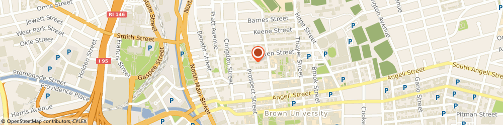 Route/map/directions to Pembroke College, 02912 Providence, 87 PROSPECT ST