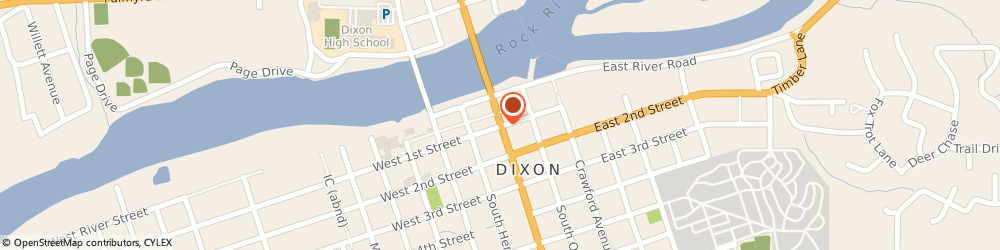 Route/map/directions to BMO Harris Bank, 61021 Dixon, 101 WEST 1ST STREET