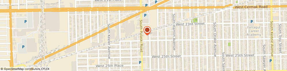 Route/map/directions to Burger King, 60623 Chicago, 2345 S Pulaski Rd