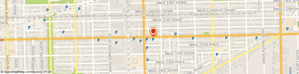Route/map/directions to PIZZA HUT, 60608 Chicago, 2337 W CERMAK RD