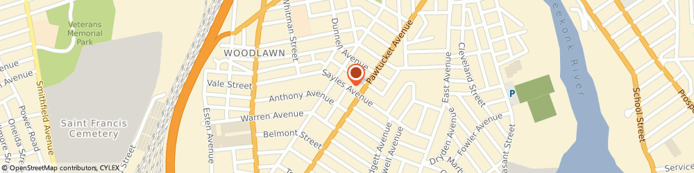 Route/map/directions to Blais Insurance, 02860 Pawtucket, 1 WALKER STREET