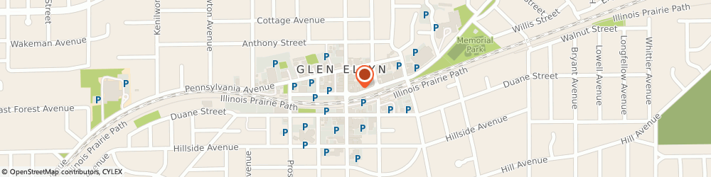 Route/map/directions to Dunkin', 60137 Glen Ellyn, 530 Crescent Blvd