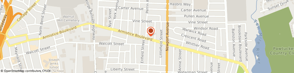 Route/map/directions to Andrews Insurance Agency-Nationwide Insurance, 02861 Pawtucket, 450 Armistice Blvd.