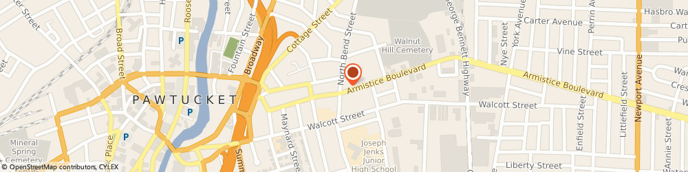 Route/map/directions to Acugarden - Accupuncture & Wellness Center, 02860 Pawtucket, 110 ARMISTICE BLVD.