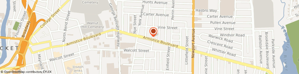 Route/map/directions to Arnold Haley Remodeling Inc, 02861 Pawtucket, 378 Armistice Blvd