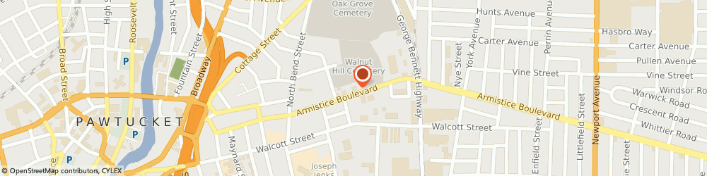 Route/map/directions to Family Medicine Specialist Inc, 02860 Pawtucket, 174 Armistice Blvd