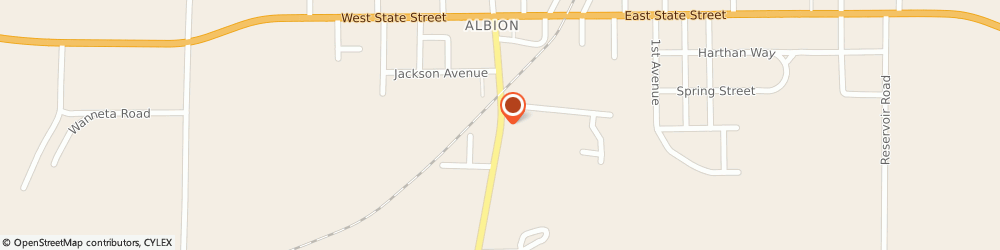 Route/map/directions to Albion Assembly Of God Church, 16401 Albion, 113 SOUTH MAIN STREET