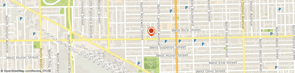 Route/map/directions to American Family Insurance, 60622 Chicago, 2540 W CHICAGO AVE