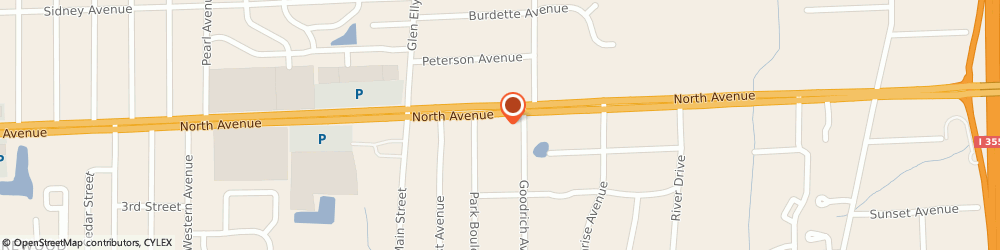 Route/map/directions to Dunkin', 60137 Glen Ellyn, 22W251 North Ave