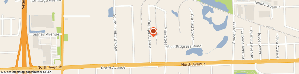 Route/map/directions to Hansen Richard m & Associates Incorporated, 60148 Lombard, 950 NORTH DU PAGE AVENUE