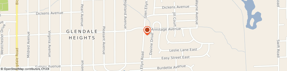 Route/map/directions to Aamco Transmission, 60137 Glen Ellyn, STREET