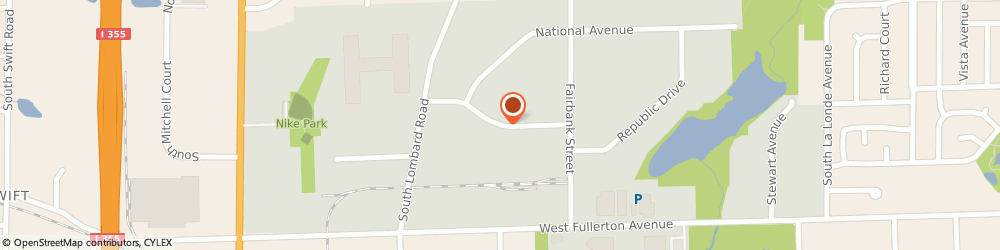 Route/map/directions to Dynamac, Inc., 60101 Addison, 1229 Capitol Dr