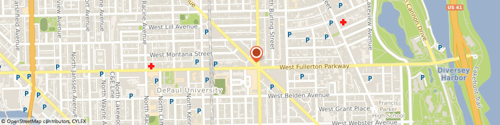 Route/map/directions to Subway, 60614 Chicago, 2412 Lincoln Avenue