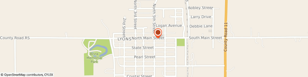 Route/map/directions to Progressive Insurance, 68038 Lyons, 400 Main St