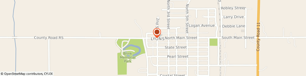 Route/map/directions to Kent Insurance & Investments, 68038 Lyons, 160 MAIN ST