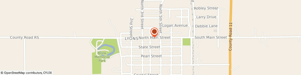 Route/map/directions to Farm & Home Insurance Inc, 68038 Lyons, 400 Main St