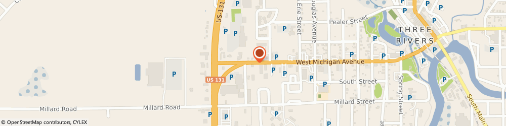 Route/map/directions to Curves, 49093 Three Rivers, 1170 WEST MICHIGAN AVENUE
