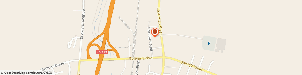 Route/map/directions to Citibank ATM, 16701 Bradford, 1001 E. Main St