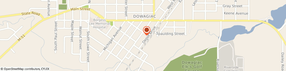 Route/map/directions to Fifth Third Bank & ATM, 49047 Dowagiac, 205 South Front Street